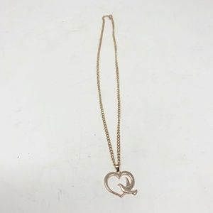 Rose Gold fashion Necklace Heart with Bird